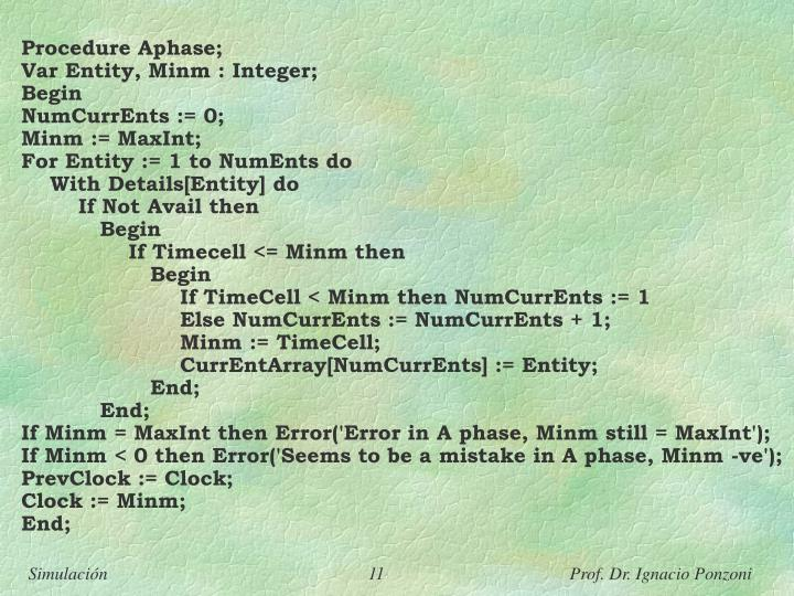 Procedure Aphase;