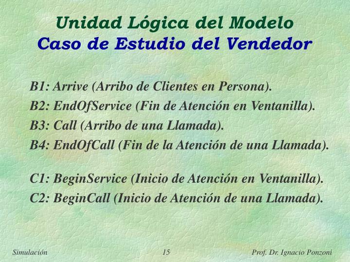 Unidad Lógica del Modelo
