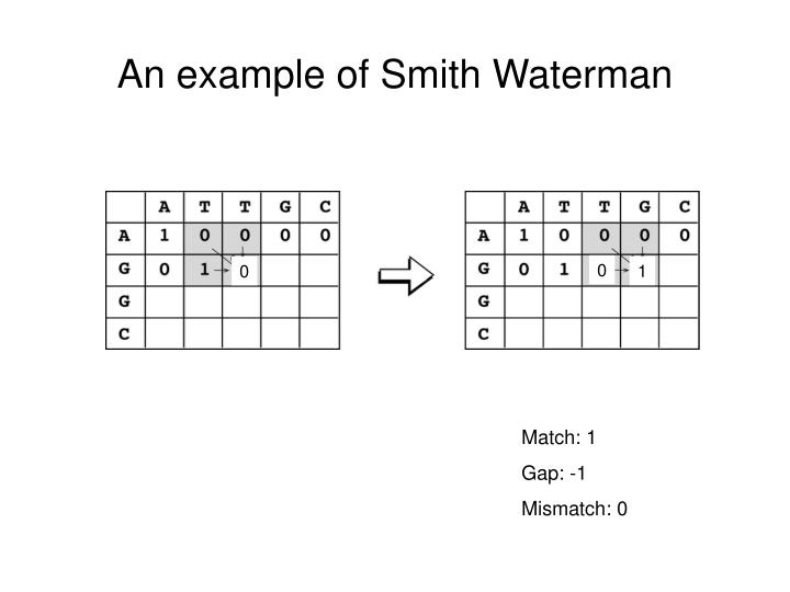 An example of Smith Waterman