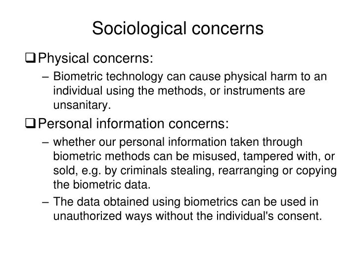 Sociological concerns