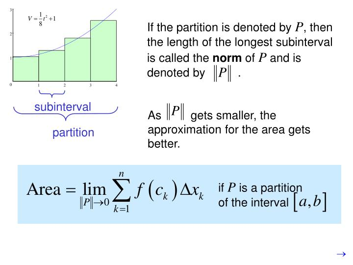 If the partition is denoted by