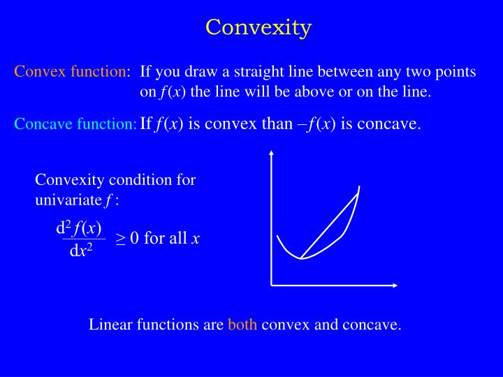Convexity condition for