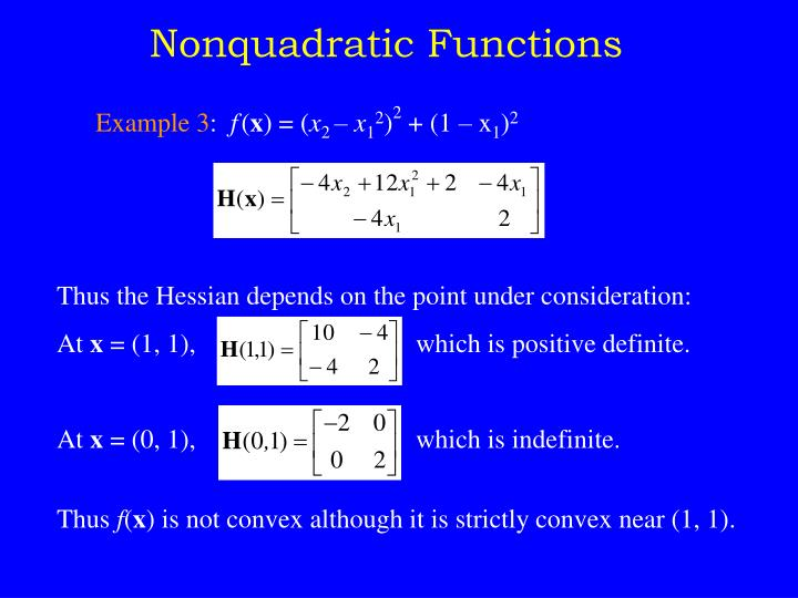 Nonquadratic Functions