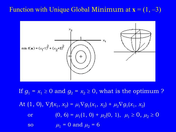 Function with Unique Global