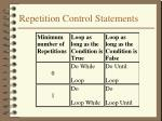 repetition control statements2