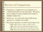 review of comparisons