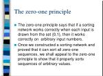 the zero one principle