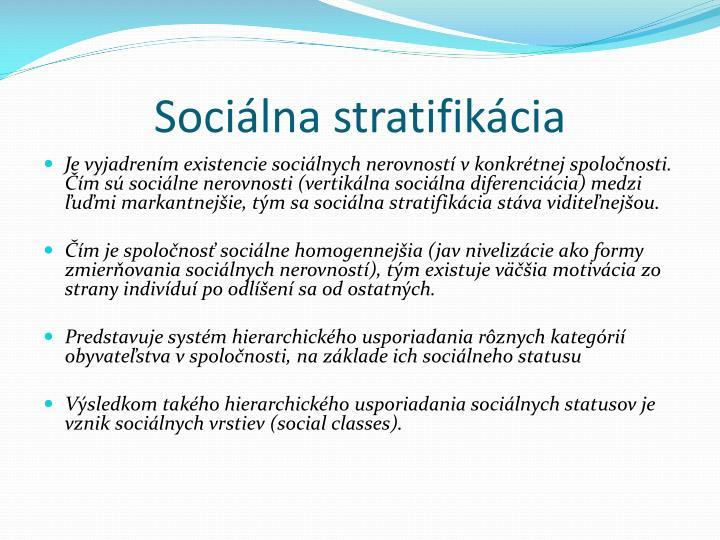 Soci lna stratifik cia1