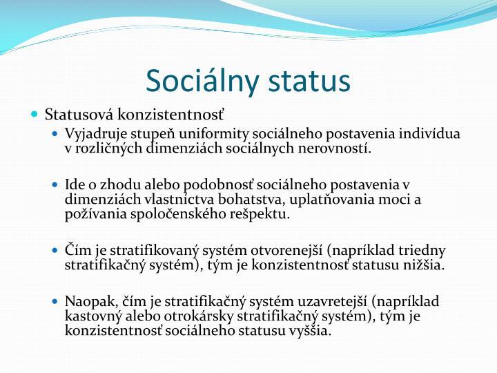 Sociálny status