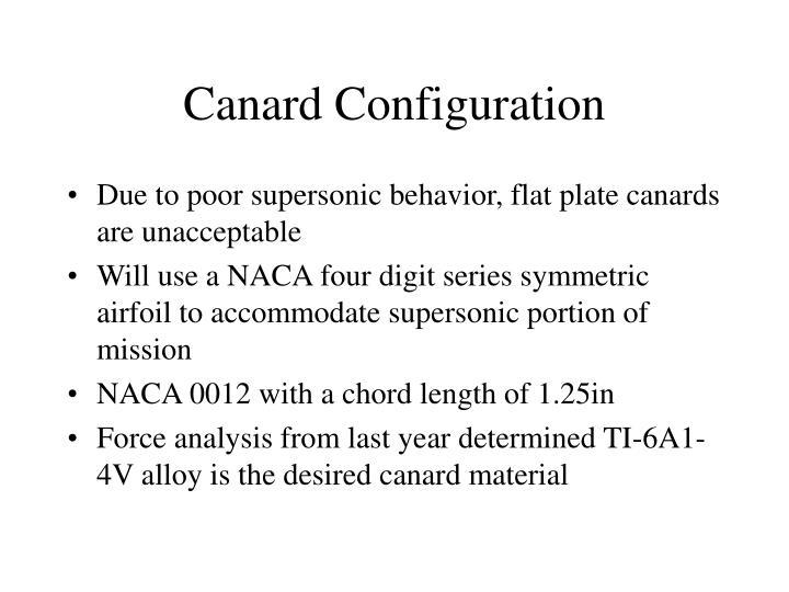 Canard Configuration
