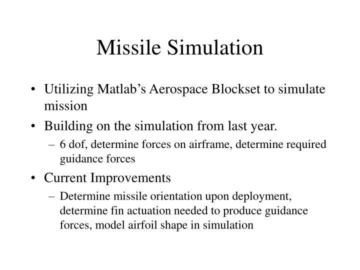 Missile Simulation