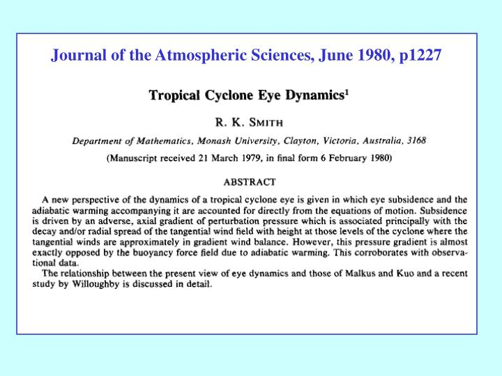 Journal of the Atmospheric Sciences