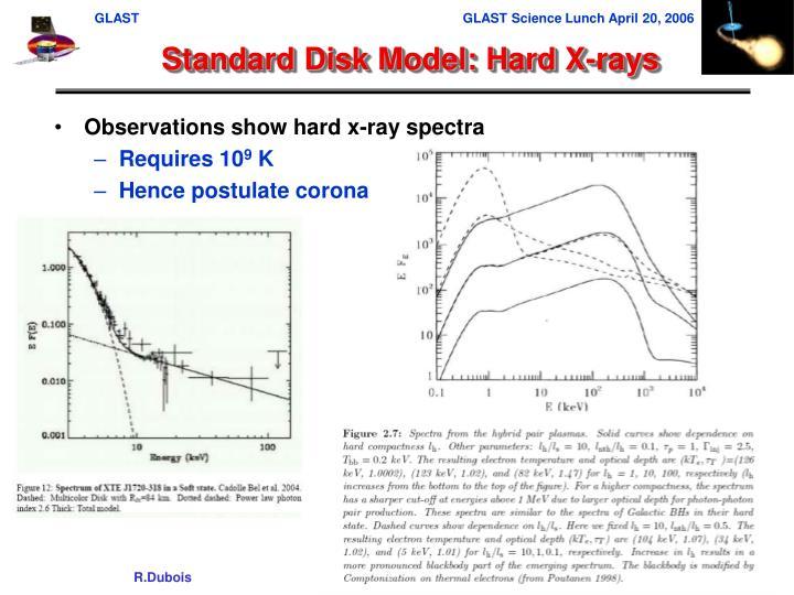 Standard Disk Model: Hard X-rays