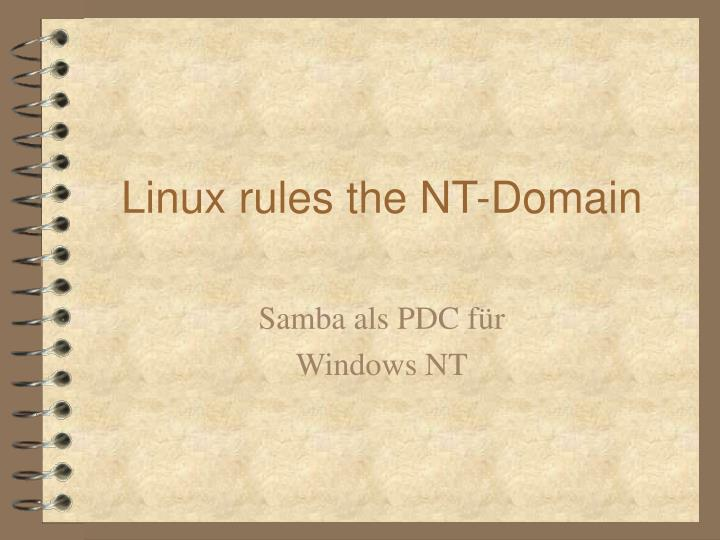linux rules the nt domain n.