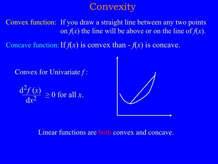 Convex for Univariate