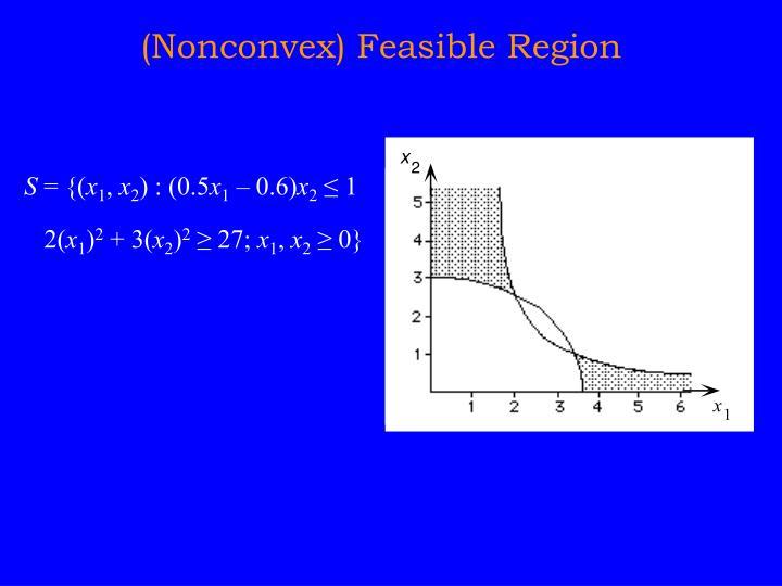 (Nonconvex) Feasible Region