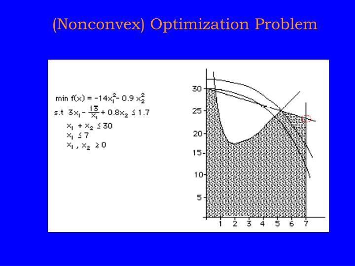 (Nonconvex) Optimization Problem