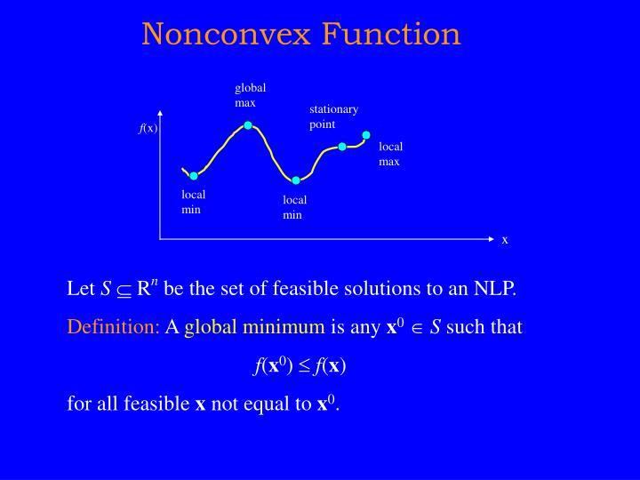 Nonconvex Function