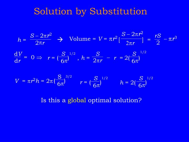 Solution by Substitution
