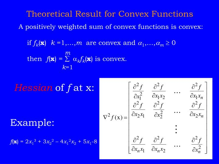 A positively weighted sum of convex functions is convex: