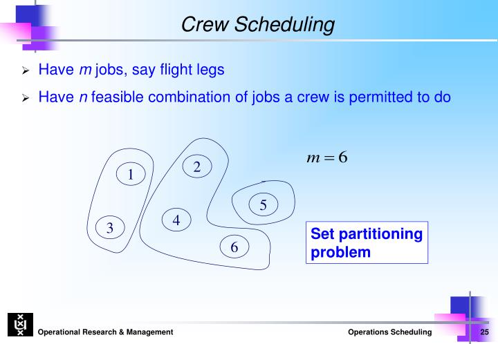 Crew Scheduling
