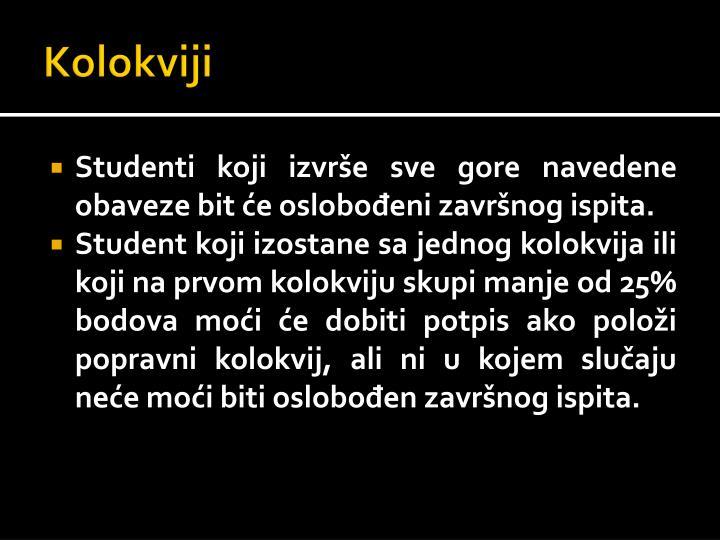 Kolokviji