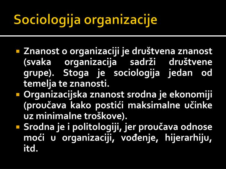 Sociologija organizacije