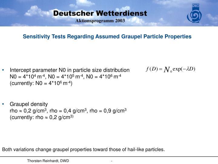 Sensitivity tests regarding assumed graupel particle properties1