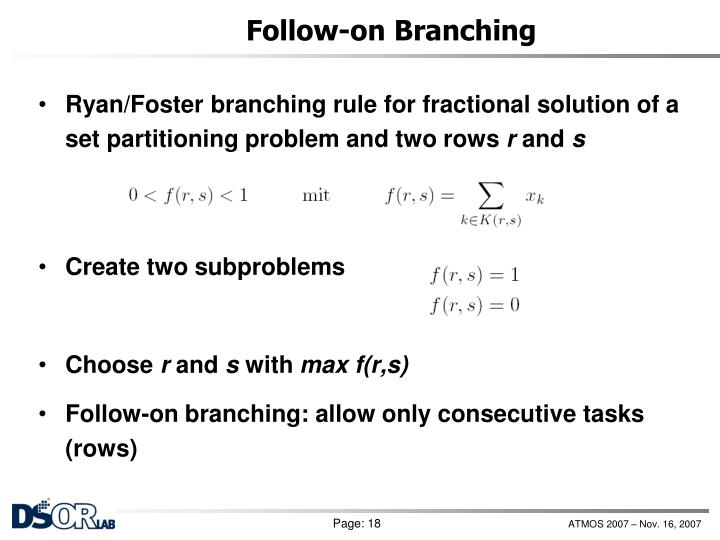 Follow-on Branching