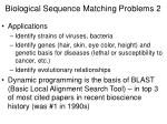 biological sequence matching problems 2