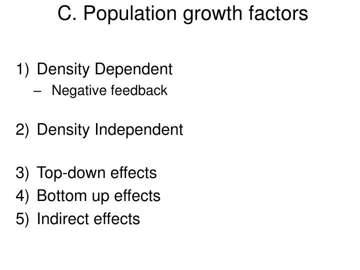 C. Population growth factors