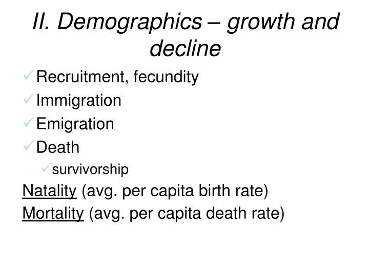 II. Demographics