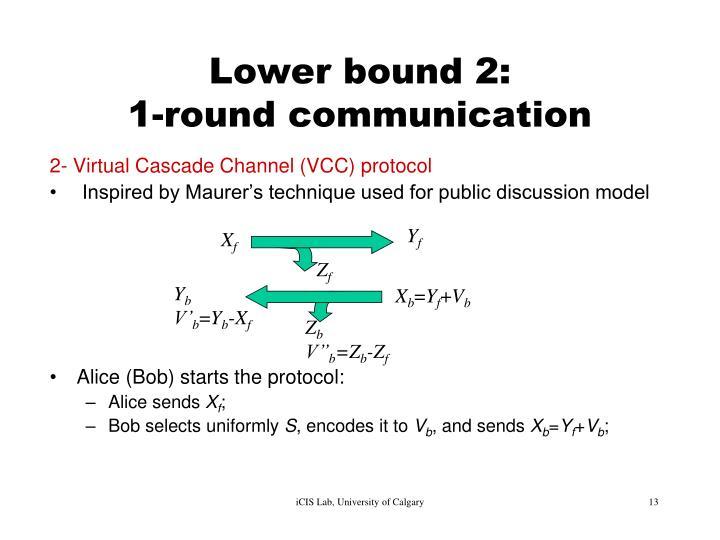 Lower bound 2: