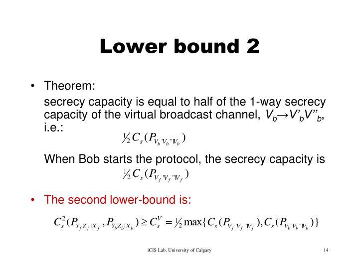 Lower bound 2