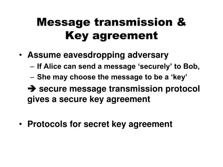 Message transmission