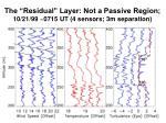 the residual layer not a passive region 10 21 99 0715 ut 4 sensors 3m separation