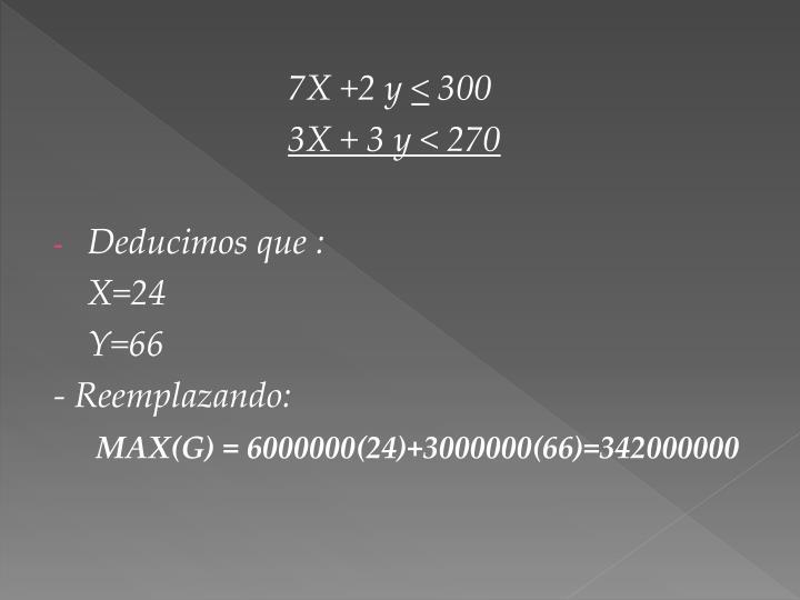 7X +2 y