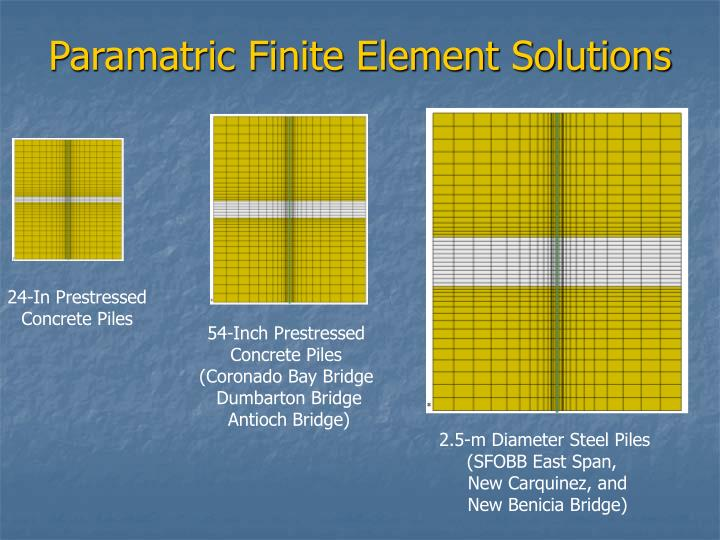 Paramatric Finite Element Solutions