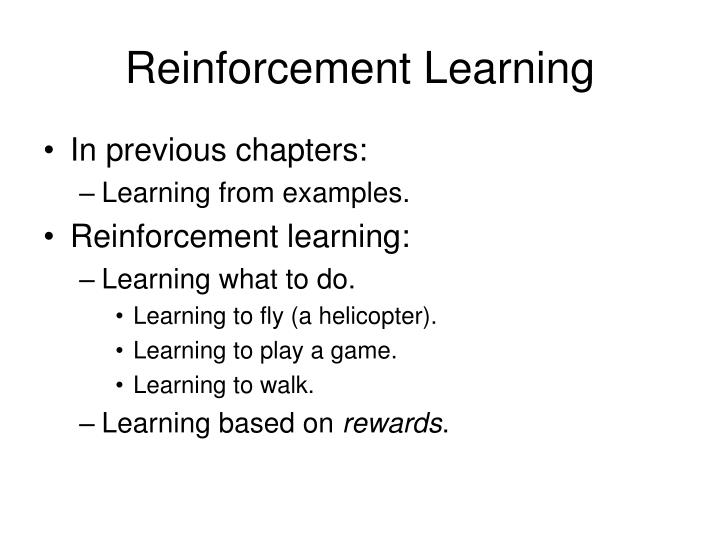 Reinforcement learning1