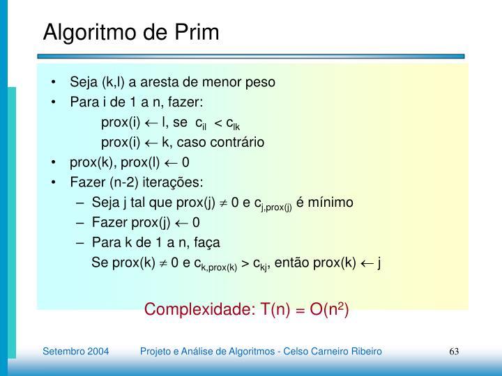 Algoritmo de Prim