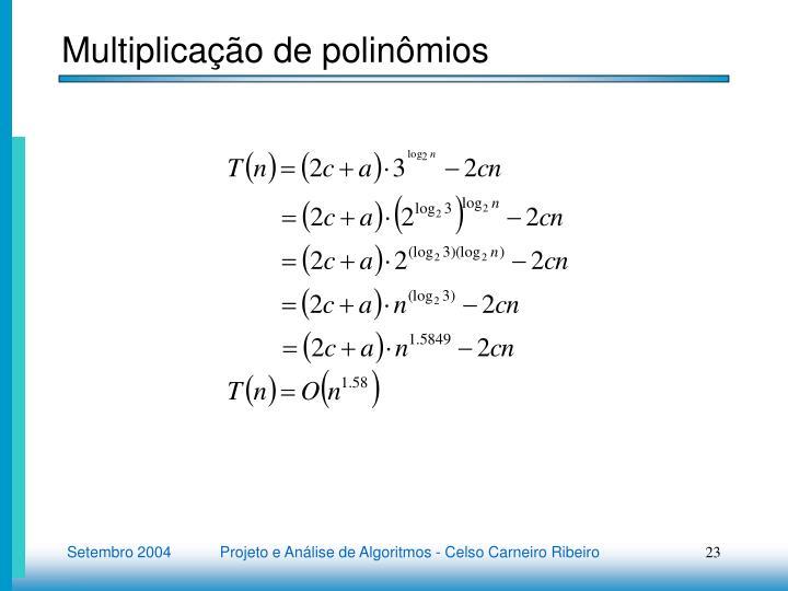 Multiplicação de polinômios