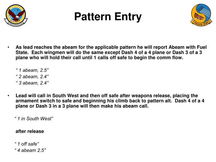 Pattern Entry