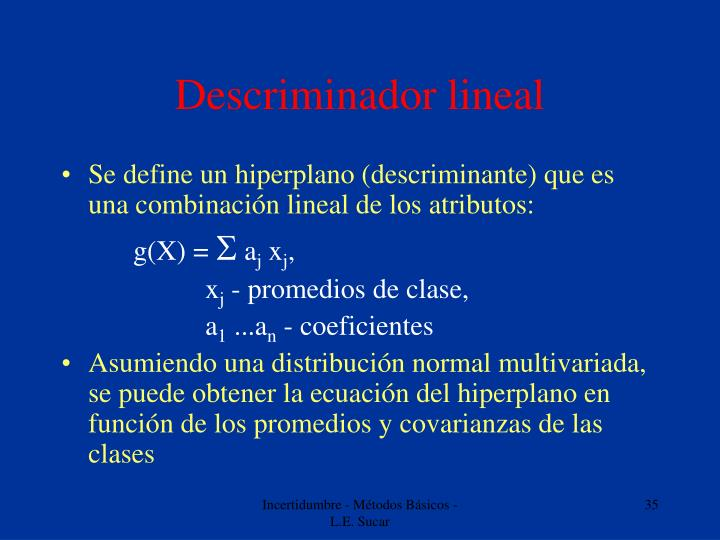 Descriminador lineal