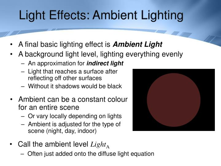 Light Effects: Ambient Lighting
