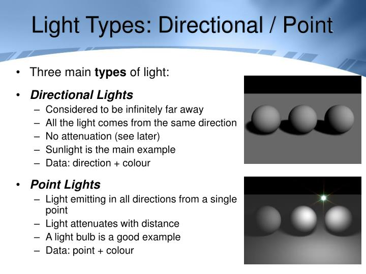 Light Types: Directional / Point