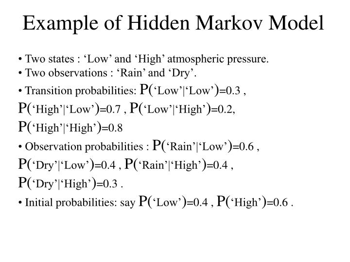 Example of Hidden Markov Model