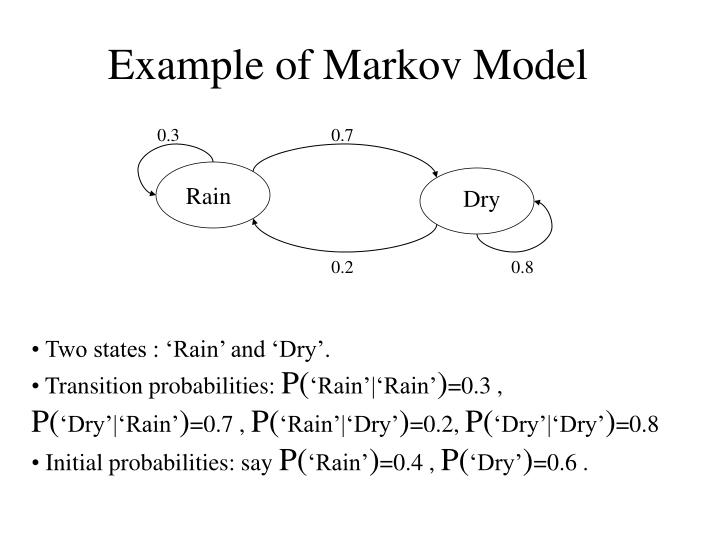 Example of markov model