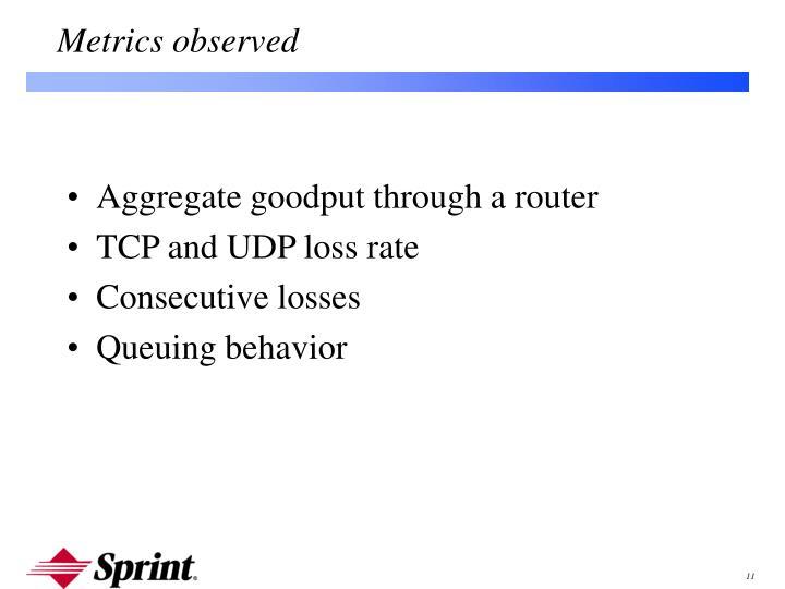 Aggregate goodput through a router