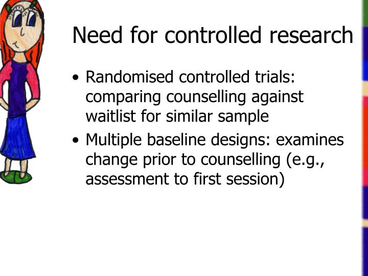Need for controlled research