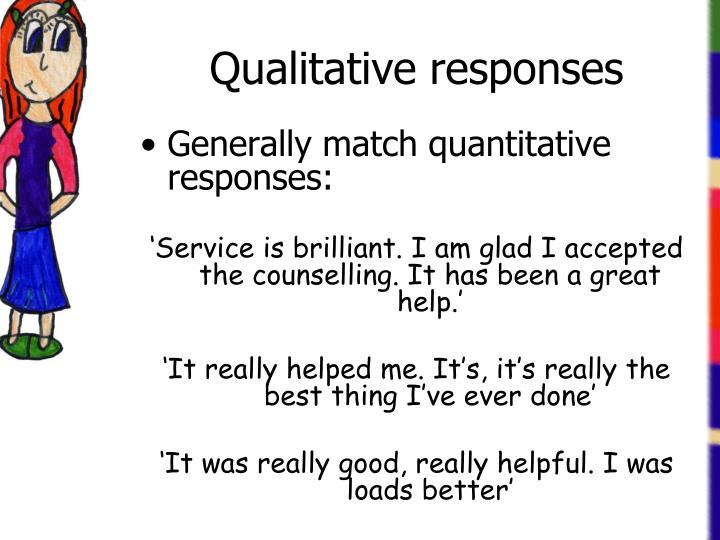 Qualitative responses